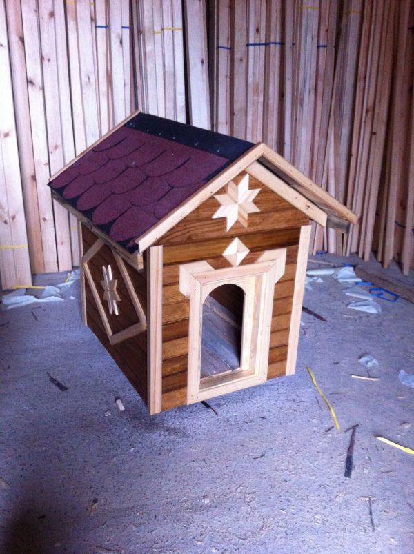ahşap Köpek Kulübesi dekoratif